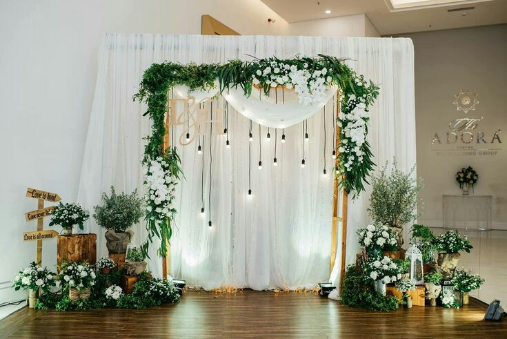 how to make a backdrop stand for wedding